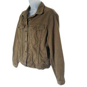 Vintage Gap Denim Jacket Olive Green Jean Cotton S